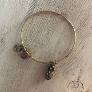 Alex & Ani Pineapple Charm Bracelet